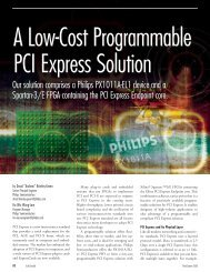 A Low-Cost Programmable PCI Express Solution - ICs