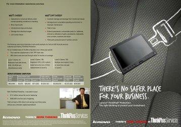 ThinkPad Protection brochure - Lenovo