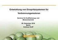 Entwicklung von Einspritzsystemen für ... - TU Berlin