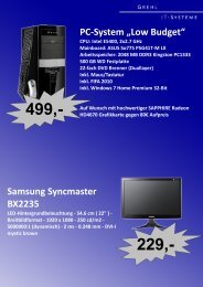 "PC-System ""Low Budget"" Samsung Syncmaster BX2235"