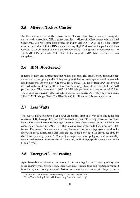 Low-Power High Performance Computing - EPCC - University of ...
