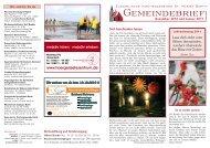 Lebendiger Adventskalender 2010 - Evangelische ...