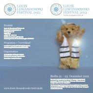 Festival Programm als PDF - Louis Lewandowski Festival
