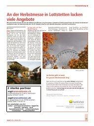 An der Herbstmesse in Lottstetten locken viele Angebote - Wospi