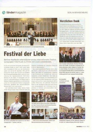Handelsjournal Berlin Brandenburg Festival der Liebe - Louis ...