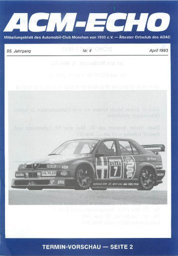 echo-1993-04 - ACM Automobilclub München von 1903 e. V.
