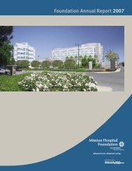 Foundation Annual Report 2007 - Mission Hospital