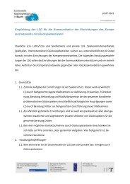 Handlungsempfehlungen der LSG