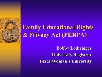 FERPA - Texas Woman's University