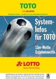 System-Infos für TOTO 13er-Wette - Lotto