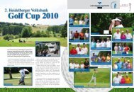 Golf Cup 2010 - Heidelberger Volksbank eG
