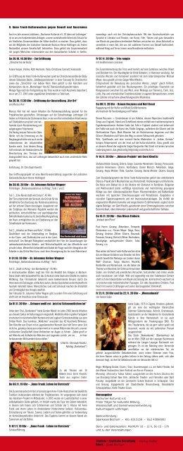 Anne Frank Kulturwochen 2008 - Kulturrat