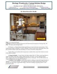 Heritage Woodworks: Custom Kitchen Design