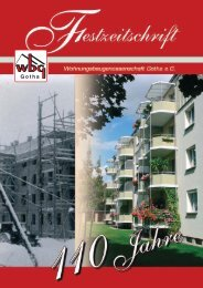 Festreden zum 110.Geburtstag - Wohnungsbaugenossenschaft ...