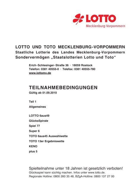 Lotto Mecklenburg Vorpommern Sonderauslosung