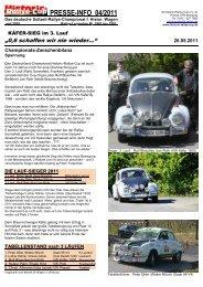 PRESSE-INFO 04/2011 - Historic-Rallye-Cup