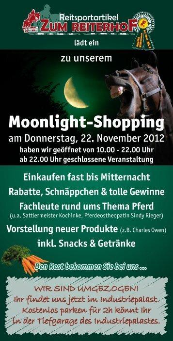 Moonlight-Shopping - Reiterhof