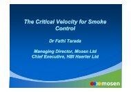 mosen The Critical Velocity for Smoke Control The ... - Mosen Ltd