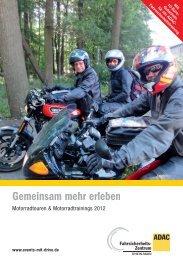 ADAC Motorradtouren & Motorradtrainings 2012 ... - FSZ Rhein-Main