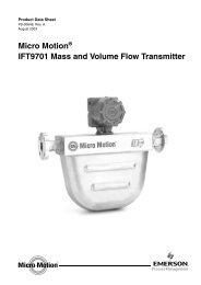 Micro Motion IFT9701 Mass and Volume Flow Transmitter