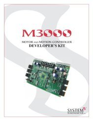 M3000 Development Kit Manual - Schneider Electric Motion USA