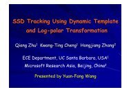 SSD Tracking Using Dynamic Template and Log-polar Transformation