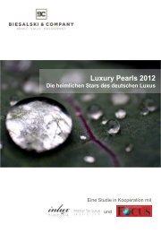 Luxury Pearls 2012 Die heimlichen Stars des deutschen Luxus