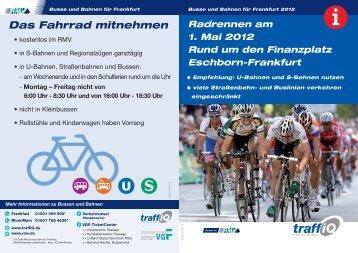 Radrennen am 1. Mai 2012 - Faltblatt (PDF, 0.3 - traffiQ