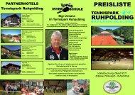 tennispark ruhpolding bayerische alpen preisliste - InterTennis ...
