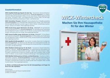 Wick-Wintercheck - For me