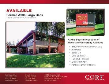 Former Wells Fargo Bank - CORE Commercial