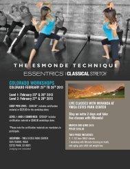 Colorado workshops - Classical Stretch