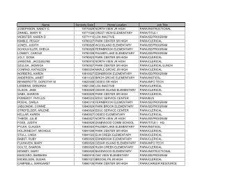 Seniority - ESPs - Osseo Area Schools