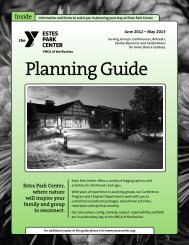 Estes Park Center Planning Guide - YMCA of the Rockies