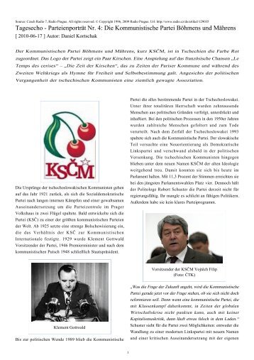 Tagesecho - Parteienporträt Nr. 4: Die Kommunistische Partei ...