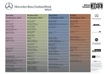 Tuesday 15 January 2013 - Mercedes-Benz Fashion Week