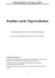 Panther sucht Tigerweibchen - Stueckboerse