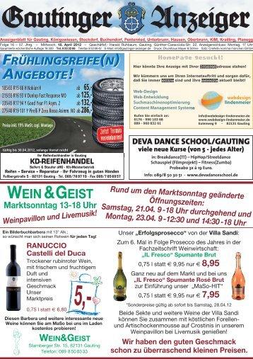 WEIN&GEIST - Gautinger Anzeiger