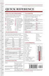QUICK REFERENCE - Lonely Planet