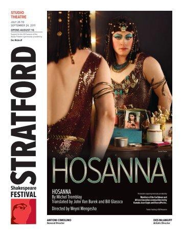 HOSANNA - Stratford Festival