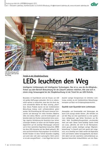 LEDs leuchten den Weg - dlv – Netzwerk Ladenbau e.V.