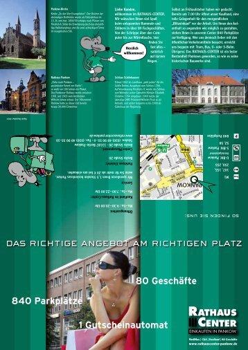 Einen Lageplan des Rathaus-Centers finden Sie hier