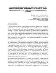 DETERMINACIÓN DE COBERTURAS VEGETALES Y ANÁLISIS DE ...