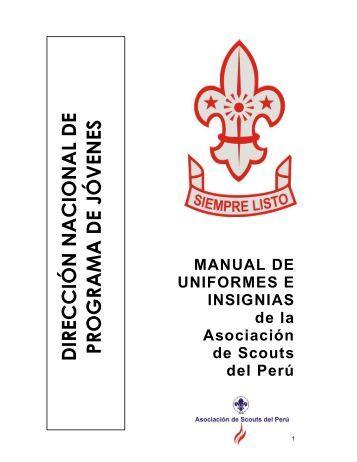 Manual de uniforme e insignias r3 - Scouts del Perú