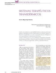 SISTEMAS TERAPÉUTICOS TRANSDÉRMICOS