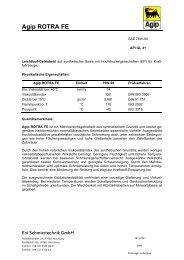 Agip ROTRA FE Eni Schmiertechnik GmbH - Korb Schmierstoffe