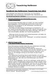 Rundbrief des Heilbronner Tauschrings Juni 2012