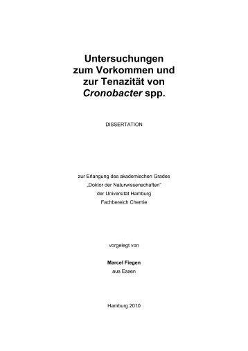 Untersuchungen - Chemie - Universität Hamburg