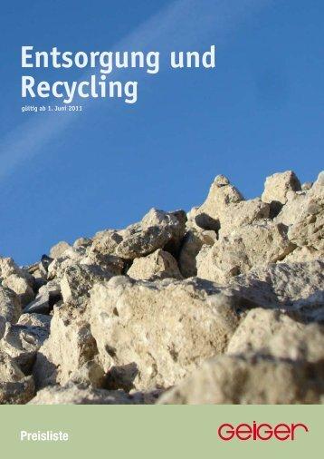 Entsorgung und Recycling Kontaminierte Böden/Bauschutt ... - Geiger