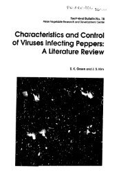 Characteristics and Control of Viruses Infecting Peppers: A ...